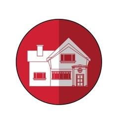 beautiful home chimney window shadow vector image