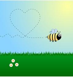 Bee in love vector