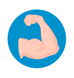 biceps icon isolated on white background vector image