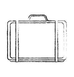Black blurred silhouette cartoon travel briefcase vector