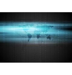 Blue shiny hi-tech background vector image