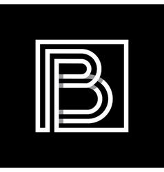 Capital letter b monogram logo emblem vector