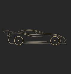 car service logo template design icon or label vector image