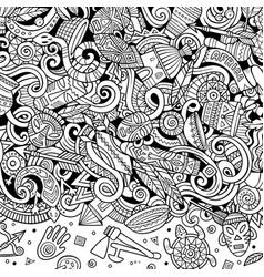 cartoon cute doodles africa word sketchy vector image