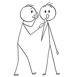 Cartoon of man or businessman whispering a secret vector