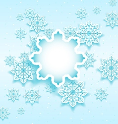 Christmas bubble with set snowflakes vector image