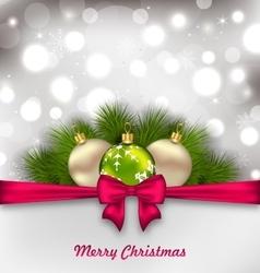 Christmas Shimmering Postcard vector