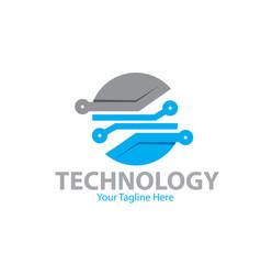 circle tech logo designs vector image