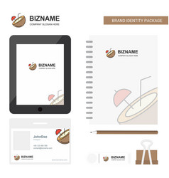 coconut business logo tab app diary pvc employee vector image