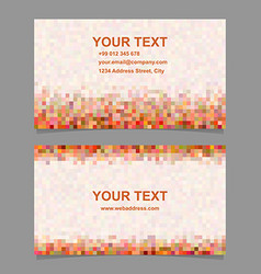 Colorful digital art mosaic business card design vector