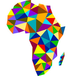 Colorful mosaic abstract africa map vector