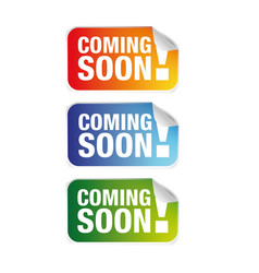 coming soon label tag vector image