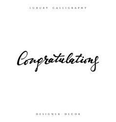 Congratulations calligraphic inscription vector image