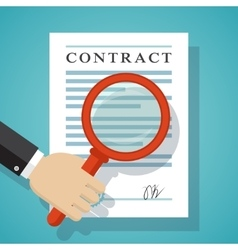 Contract inspection concept vector image