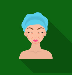 Cosmetic plastic surgery icon in flate style vector