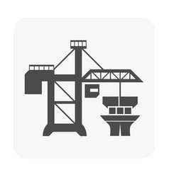 crane port icon vector image
