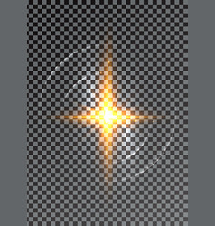 cross light shiny or bright star sign vector image