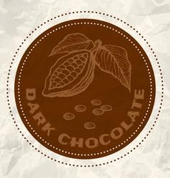 Dark chocolate vintage paper vector