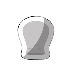 Dotted sticker of chefs hat shading and rounded vector