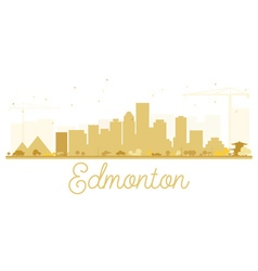 Edmonton City skyline golden silhouette vector image