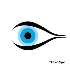 Evil eye with evil eye logo vector