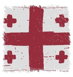 Flag of georgia handmade square shape vector