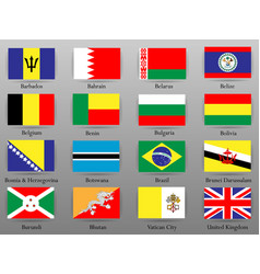 Flags of all countries of the world part 2 vector