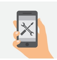 Flat design of Mobile repair vector