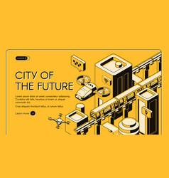 Future transport technologies web banner vector
