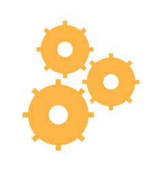 gear work team collaboration icon vector image