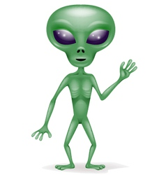 Green Alien vector image