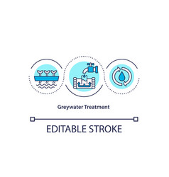 Greywater treatment concept icon vector