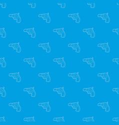 gun pattern seamless blue vector image