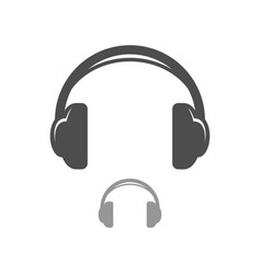 Headphone simple icon design vector