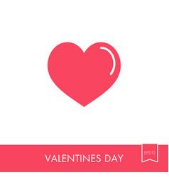 Heart icon love symbol valentine day vector
