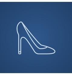 Heel shoe line icon vector