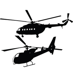 helicopters - vector image