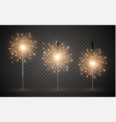 holiday celebration bright bengal light realistic vector image