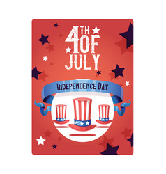 independence day american day hat flag of vector image