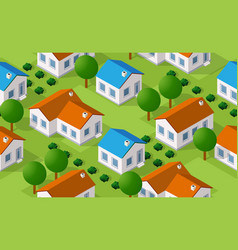 isometric seamless pattern countryside vector image