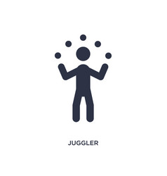 Juggler icon on white background simple element vector