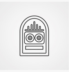 jukebox icon sign symbol vector image