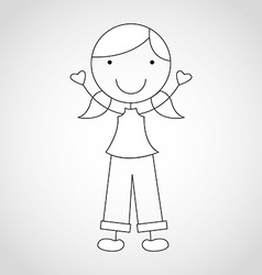 kid draw vector image
