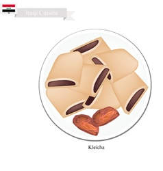 Kleicha or Traditional Iraqi Cookies vector image