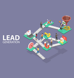 Lead generation strategy marketing process of vector