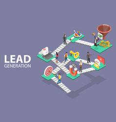 Lead generation strategy marketing process vector