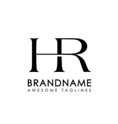 letters hr logo monogram style vector image