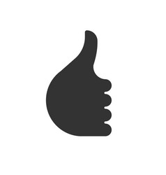 like symbol thumb up hand icon vector image