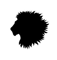 Lion head african animal profile isolated vector