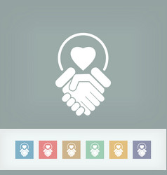 lovers union icon vector image